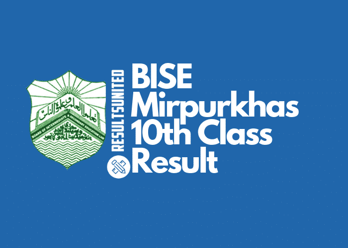 BISE Mirpurkhas 10th Class Result