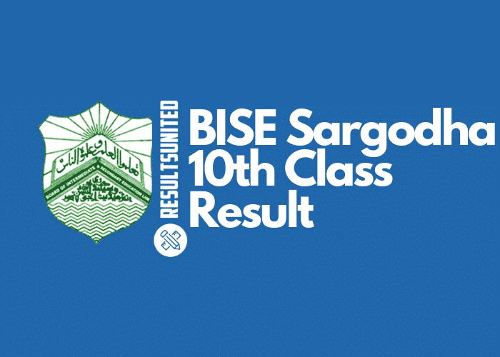 BISE Sargodha 10th Class Result 2019