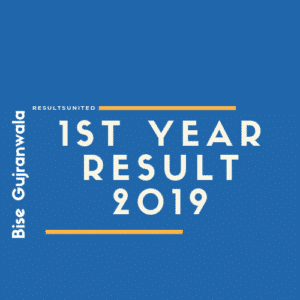 Bise Gujranwala 1st year result 2019
