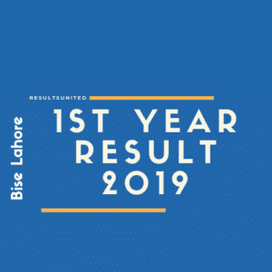 Bise Lahore 1st year result 2019