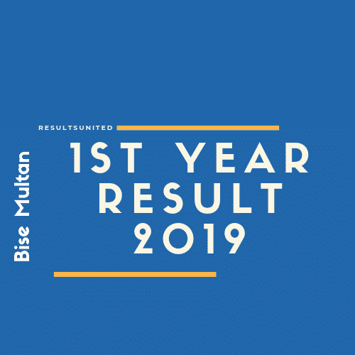 Bise Multan 1st year result 2019