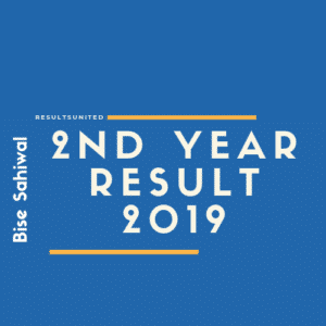 Bise Sahiwal 2nd year Result 2019