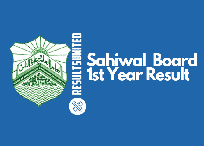 Sahiwal Board 11th Class Result