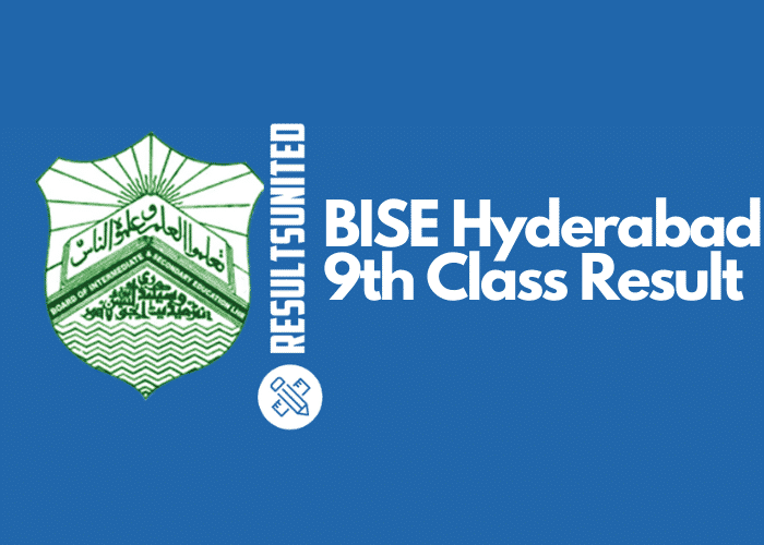 BISE Hyderabad 9th Class Result