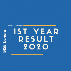 BISE Lahore 1st Year Result 2020