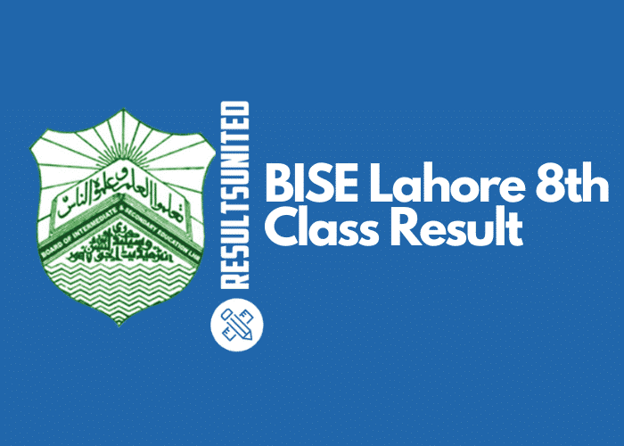 BISE Lahore 8th Class Result