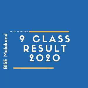 BISE Malakand 9th Class Result 2020