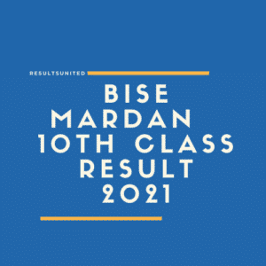 BISE Mardan 10th Class Result 2021
