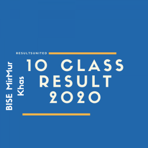 BISE Mirpurkhas 10th Class Result 2020
