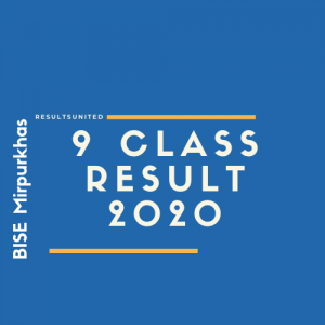 BISE Mirpurkhas 9th Class Result 2020
