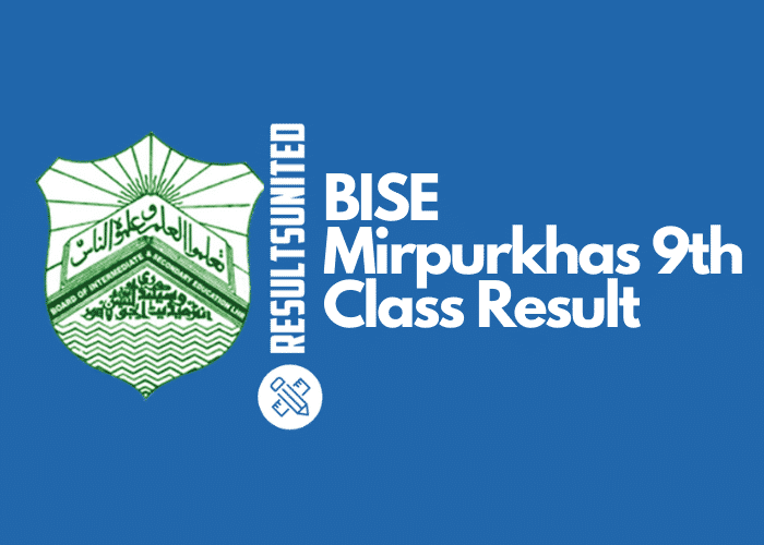 BISE Mirpurkhas 9th Class Result