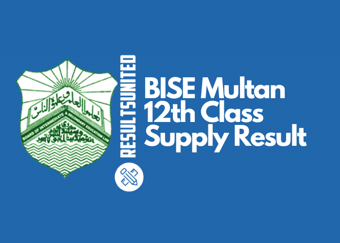 BISE Multan 12th Class Supply Result