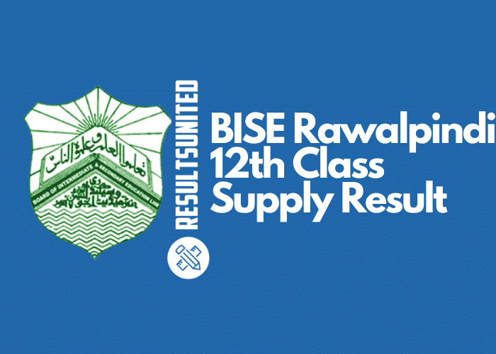 BISE Rawalpindi 12th Class Supply Result