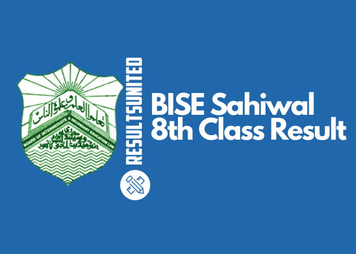 BISE Sahiwal 8th Class Result