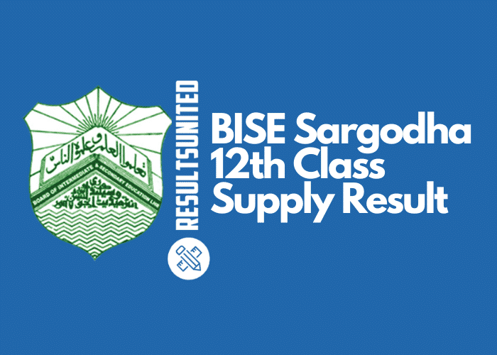 BISE Sargodha 12th Class Supply Result