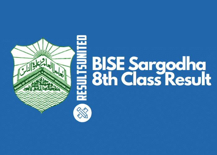 BISE Sargodha 8th Class Result