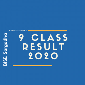 BISE Sargodha 9th Class Result 2020
