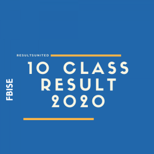 FBISE 10th Class Result 2020