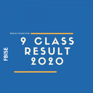 FBISE 9th Class Result 2020