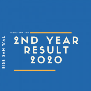 Bise Sahiwal 2nd year Result 2020